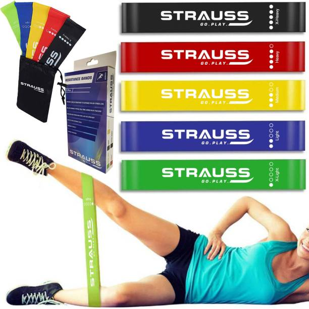 Strauss Exercise Latex, (Set of 5) Resistance Band