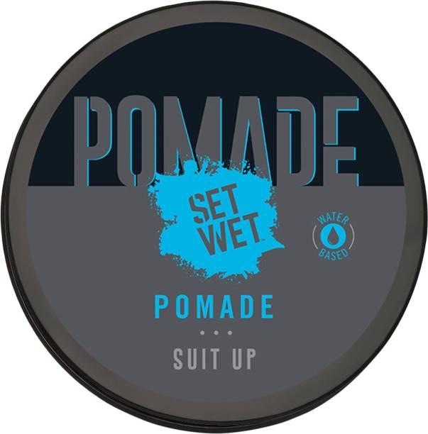 SET WET Pomade for Slick & Shiny Look With Transparent Formula, No Sulphate, No Alcohol, No Paraben Hair Wax