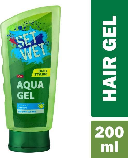 SET WET Daily Use Hair Styling AQUA GEL For Soft and Set Hair,Aloe Vera Hair Gel