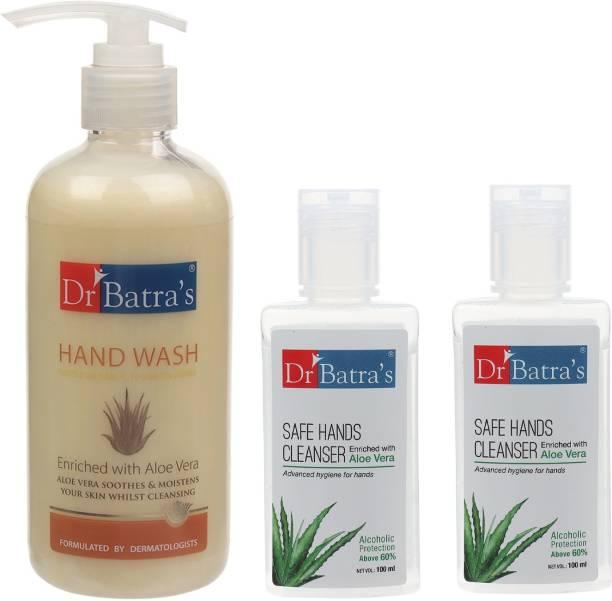 Dr Batra's 1 Hand Wash 300 ml and 2 Safe Hand Cleanser 200 ml Hand Wash Pump Dispenser