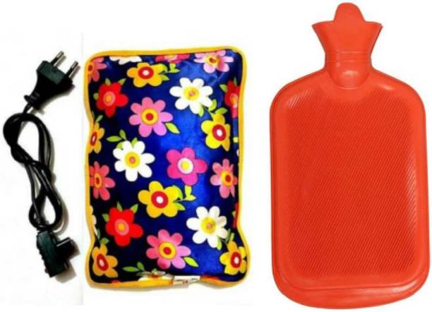 my mist Combo of 1 L Hot Water Bag with Electric Heating Gel Pad and Non Electrical 2 L Hot Water Bag / Hot Rubber Water bottle (Red) Heating pad 3 L Hot Water Bag