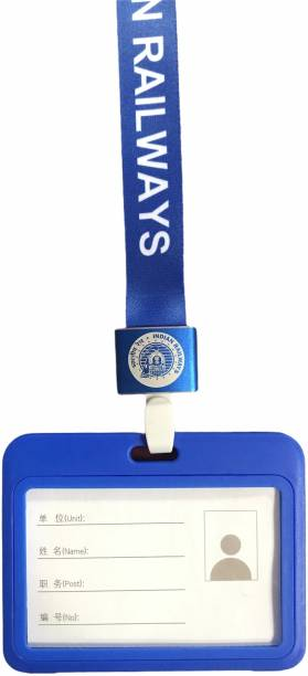 India Railway Plastic ID Badge Holder