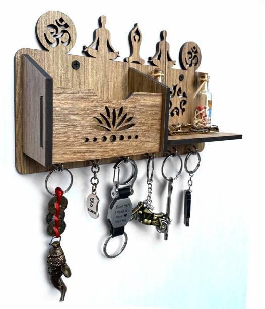 Naraniya Creation Yoga meditation Shelf Wood Key Holder Wood Key Holder