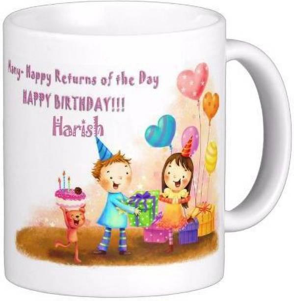 Exocticaa Happy Birthday to You Harish Wish Quote 79 Ceramic Coffee Mug