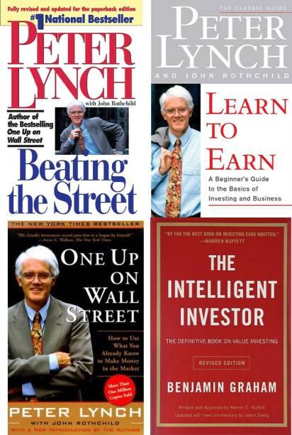 Set Of 4 Best Books : 3 Books Of Peter Lynch + Intelligent Investor