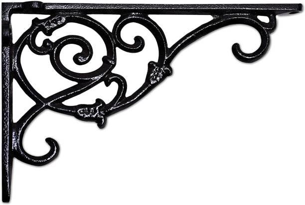 Sharpex Design Black Wall Bracket Hanger for Garden Pots, Hanging Flower Pots, Bird Feeder Bracket -Black (20 X 27 X 3) Shelf Bracket