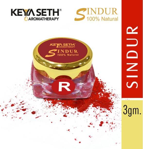 KEYA SETH AROMATHERAPY 100% Natural Sindur Dust Red, 3gm Sindur