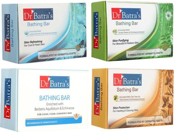 Dr Batra's 1 Skin Refreshing Bathing Bar ::1 Purifying Bathing Bar :: 1 Protection Bathing Bar ::1 Bathing Bar