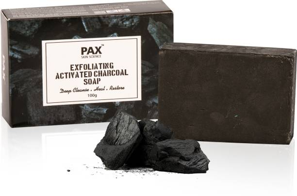 PAX Activated Charcoal Bath Soap for Face Deep Clean, Skin Brightening and Whitening