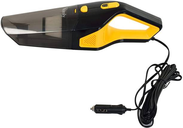 Lyrovo 5000PA Voroly High Power Handheld Car Vacuum Cleaner for Car Dry and Wet DC12V (SS HEAP Filter)yellow Car Vacuum Cleaner