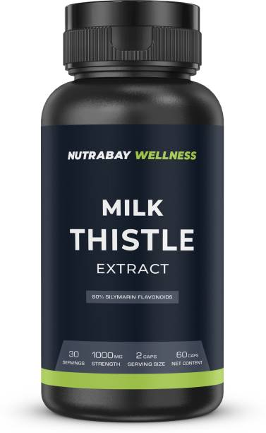 Nutrabay Wellness Milk Thistle Extract - 1000mg , 60 Capsules