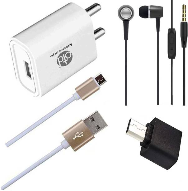 OTD Wall Charger Accessory Combo for Intex Cloud 4G Star, Intex Cloud Breeze, Intex Cloud C1, Intex Cloud Cube