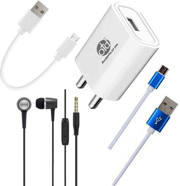 OTD Wall Charger Accessory Combo for OPPO A15s, OPPO A1K, OPPO A31 2020, OPPO A37