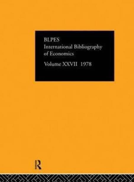 IBSS: Economics: 1978 Volume 27