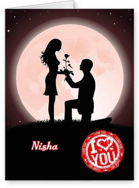 Midas Craft I Love You Nisha ….07 Romantic Quote Greeting Card