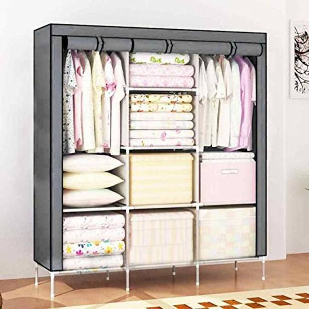 MS MODSTYLE 6+2 Shelves 3 door 88138 PP Collapsible Wardrobe