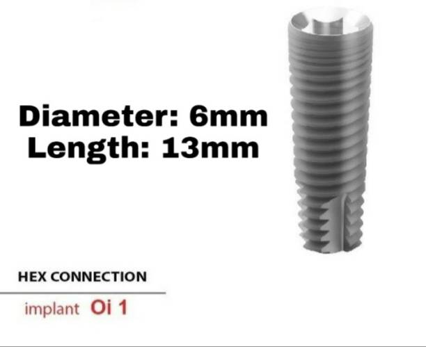 Navkar Surgical Company Dental Spiral Implant with Abutment 6.0mm×13mm Dental Implant