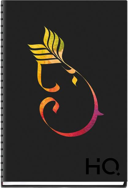 NAVNEET HQ My Notes (A5 Size) - Ganesha Series A5 Diary Single Ruled 192 Pages