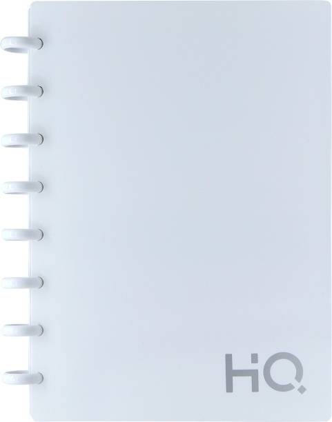 NAVNEET HQ Ezee Disc Book (A5) White A5 Diary Single Ruled 120 Pages