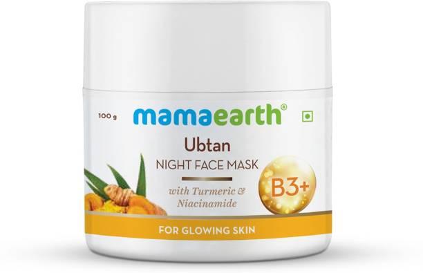MamaEarth Ubtan Night Sleeping Face Mask with Turmeric & Niacinamide for Glowing Skin