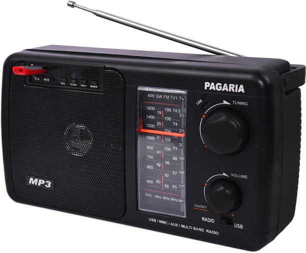 PAGARIA 5 Band Rechargeable USB, AUX Model CRETA with Bluetooth FM Radio