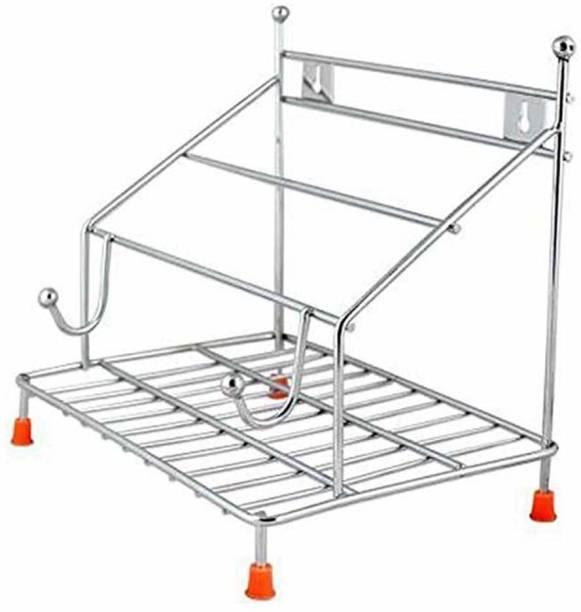 Maxtan Chakla Belan Tawa Chimta Stand 4 in1 Holder Stainless Steel Chakla/Belan Kitchen Rack Chakla/Belan Kitchen Rack