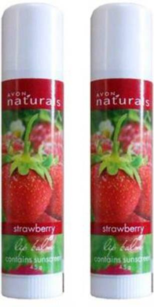 AVON Naturals Strawberry Lip Balm Combo Pack (4.5g each) Strawberry