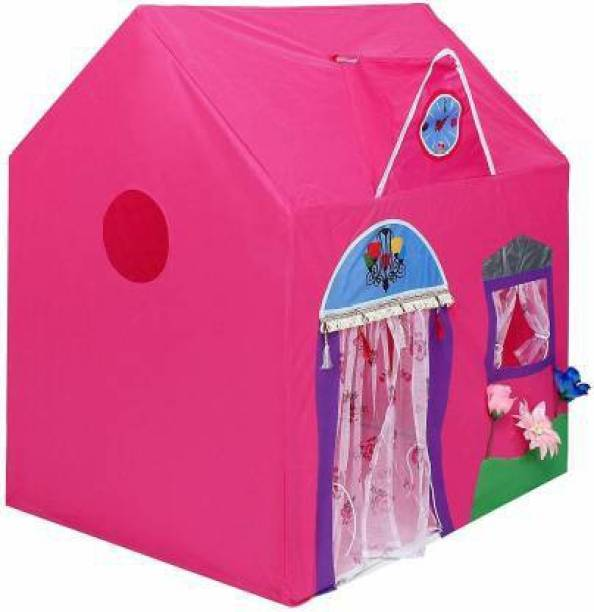 Tejasvi creation Kids Jumbo Size Queen Palace Tent House (Pink)