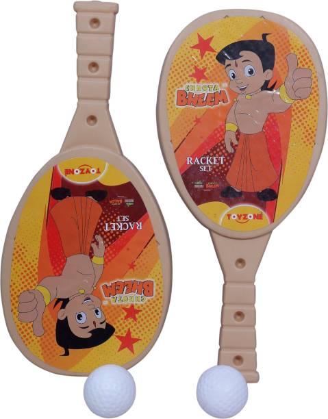 Toyzone Chhota Bheem Racquet in Beige colour Table Tennis