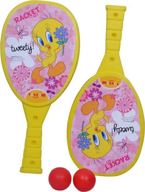 Toyzone Tweety Racquet in Yellow Yellow Unstrung Badminton Racquet