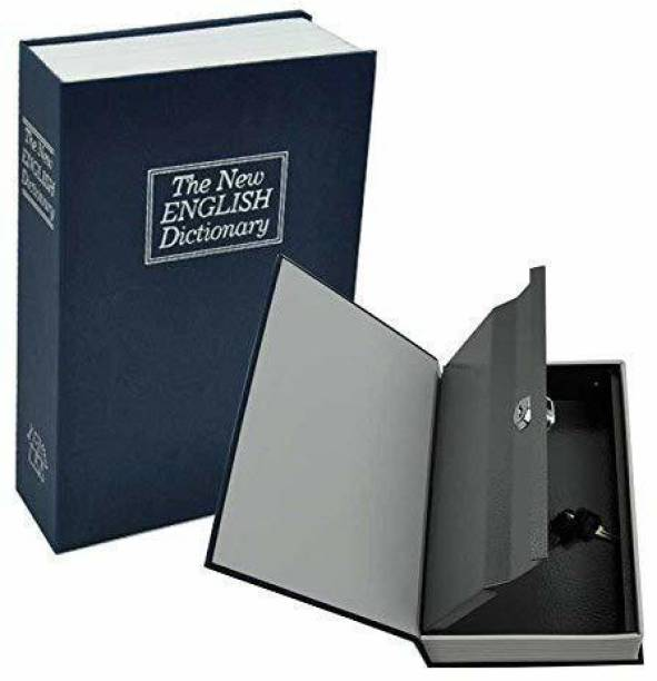 Nispruhay Metal Hidden Secret Book Safe Security Dictionary Jewelry Locker Vault Box Safe Locker