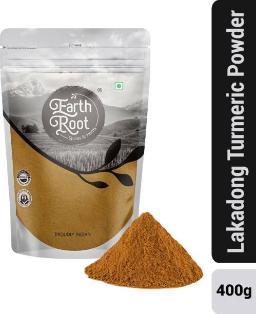 EARTHROOT Natural Lakadong Turmeric Powder (400 g)