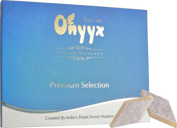 onyyx Kaju Katli - (Kaju Barfi / Burfi, Indian Mithai / Sweets gift pack / box)- 200g Festive Gift Box Festive Gift Box