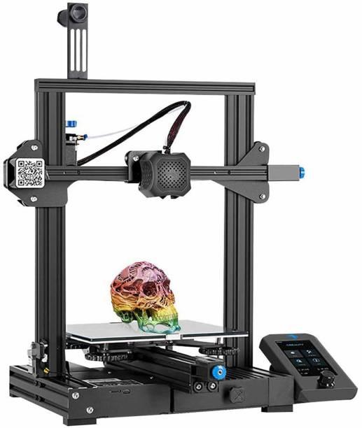 Creality Ender-3 V2 2021 FDM | Silent Motherboard Meanwell Power Supply | Carborundum Glass Platform | Resume Printing | Color Display | 3D Printer