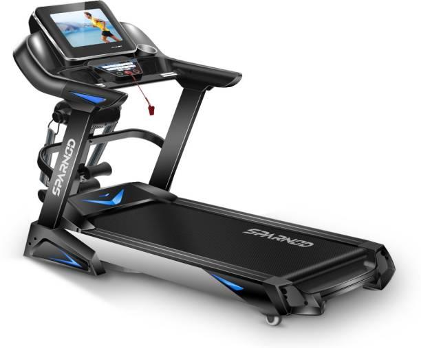Sparnod Fitness STH-6000 6 PEAK Automatic Treadmill (DIY Installation) Foldable Motorized Running Indoor Treadmill Treadmill
