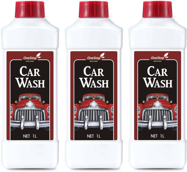 ONESTOP HOME Car Wash Car Washer (1L) PACK 3 Car Washing Liquid