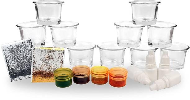 Elegant Casa Glass Candle Making Kit-1002