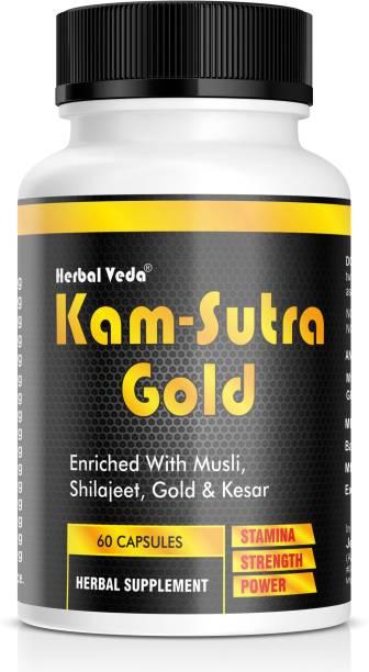 herbal veda Kam-Sutra Gold Capsules | 60 Capsules