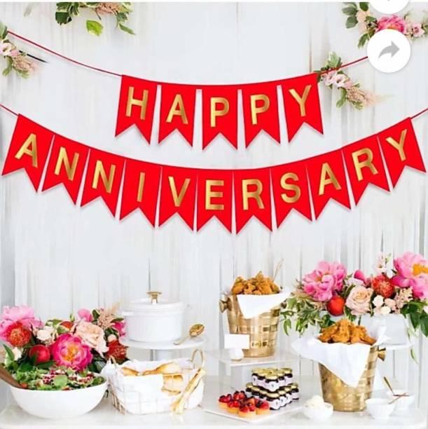 Juneja Enterprises Happy Anniversary Banner Banner