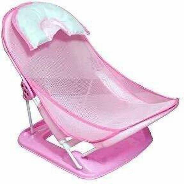 TREBBEL Baby Bather with Removable Head Support Cushion (Multi) Baby Bath Seat