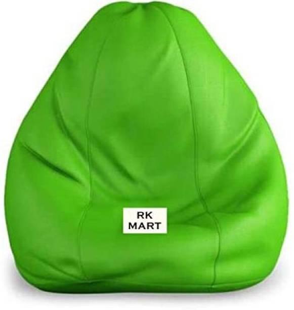 RK MART XXL Tear Drop Bean Bag Cover  (Without Beans)