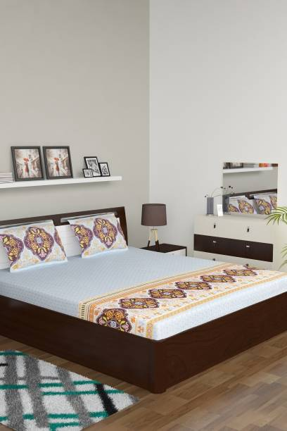 Bombay Dyeing 210 TC Cotton Double Motifs Bedsheet