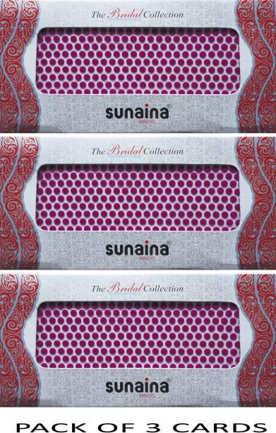 SUNAINA Bridal Collection Dark pink (size-5) FOREHEAD Pink Bindis
