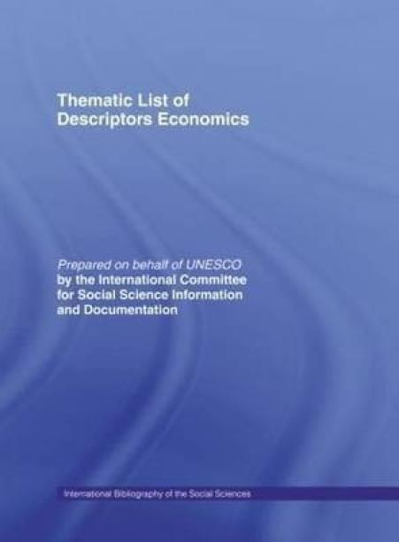 Thematic List of Descriptors: Economics