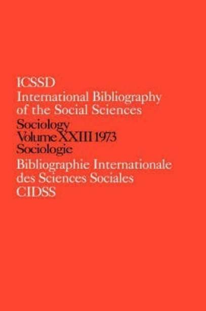 IBSS: Sociology: 1973 Vol 23