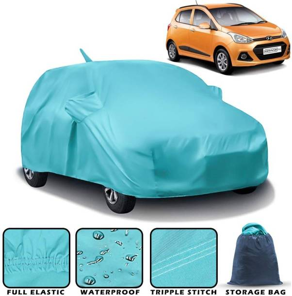 CARZEX Car Cover For Hyundai Grand i10 (With Mirror Pockets)