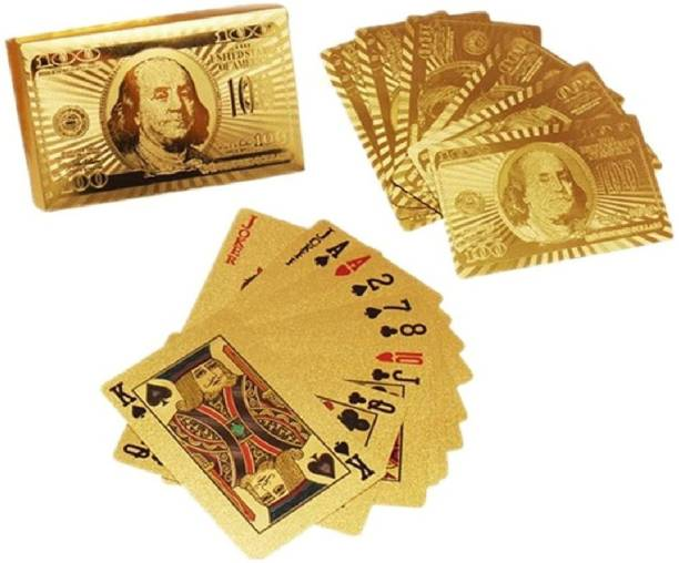 Fiddlys Gold-Plated Poker Cards, Classic PVC Poker Table Cards