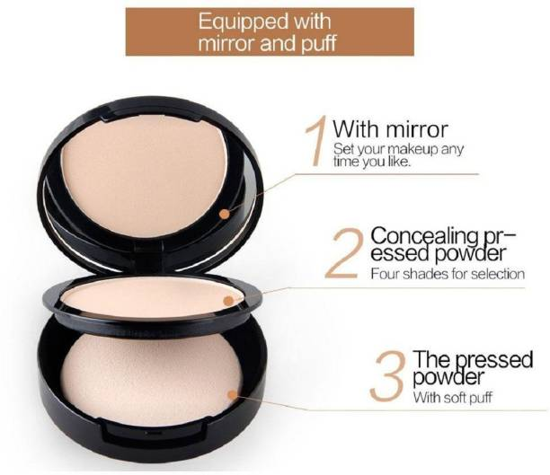 THTC 2 in 1 oil control whitening compact powder pressed powder Compact