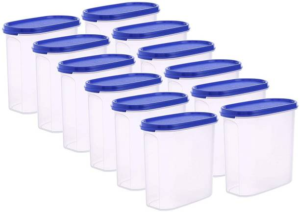 Flipkart SmartBuy Plastic Oval & Modular Kitchen Containers / Kitchen Storage Containers / Airtight Container / Storage Box / Plastic Box / Plastic Containers / Canisters / Combo / Set For Tea, Coffee, Sugar, Food, Grain, Rice, Masala, Pasta, Pulses, Spices, Kitchen  - 1500 ml Plastic Grocery Container