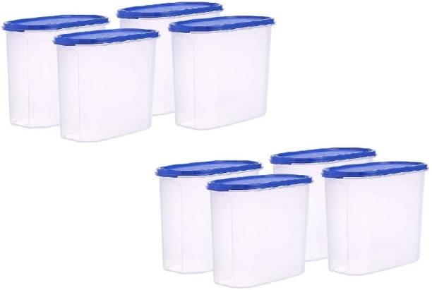 Flipkart SmartBuy Plastic Oval & Modular Kitchen Containers / Kitchen Storage Containers / Airtight Container / Storage Box / Plastic Box / Plastic Containers / Canisters / Combo / Set For Tea, Coffee, Sugar, Food, Grain, Rice, Masala, Pasta, Pulses, Spices, Kitchen  - 2000 ml Plastic Grocery Container